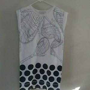 Karen Walker, tennis theme dress in 100% cotton